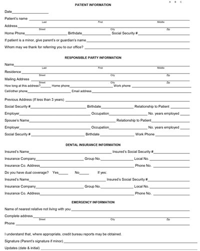 download adult & child form