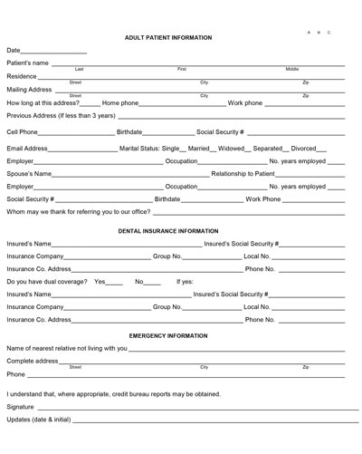 download adult form